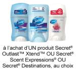 Coupon Rabais Imprimable Sur Secret De 0.75$