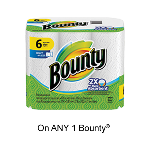 Bounty Printable Voucher –  $1 Off Any Bounty Product