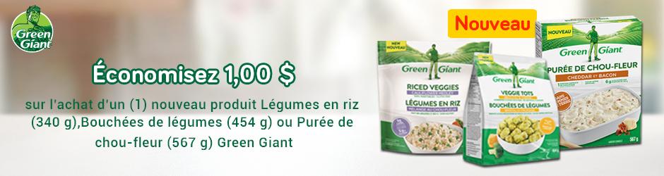 Coupon Rabais Green Giant A Imprimer De 1$ Sur Walmart