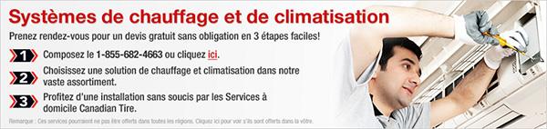 Canadian Tire Installation De Système De Chauffage Et Climatisation