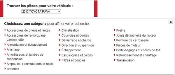 Canadian Tire Sélecteur De Pièces D