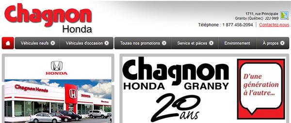 Chagnon Honda En Ligne