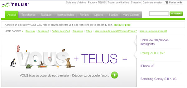 Circulaire Promotion Telus Mobilite En Ligne