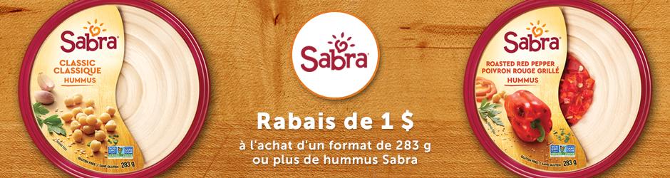 Coupon Rabais Hummus Sabra Gratuit Par La Poste De 1$ Walmart