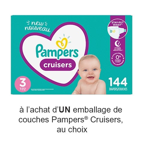 Save: Coupon Rabais Pampers Imprimable De 2.50$