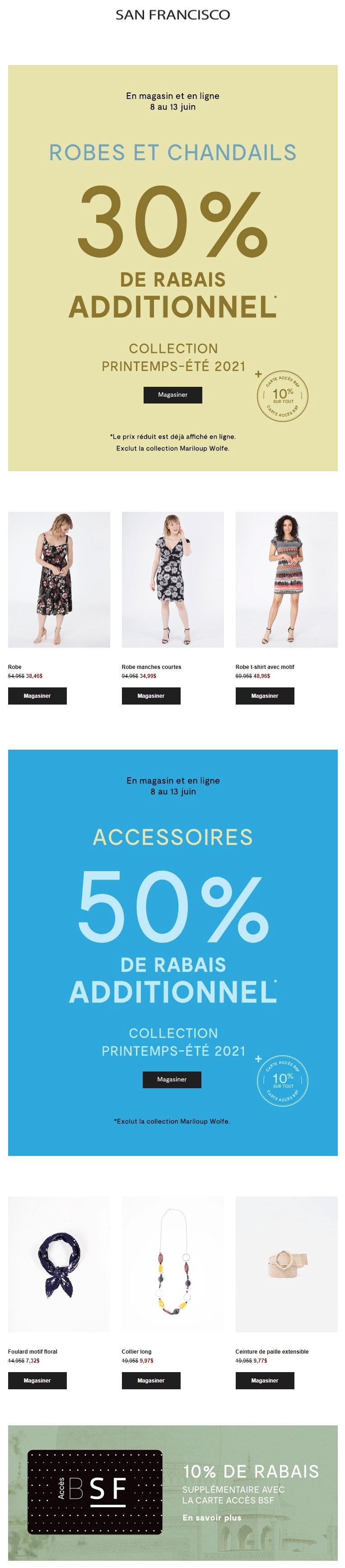 30% Additionnel Sur Les Robes Et Chandails