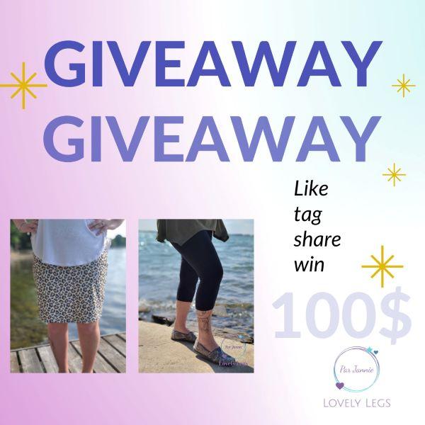 Concours 100$ En Crédit à Dépenser Sur Le Site Lovely Legs!