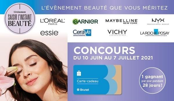 Concours 4200$ En Cartes Cadeaux Brunet à Gagner!