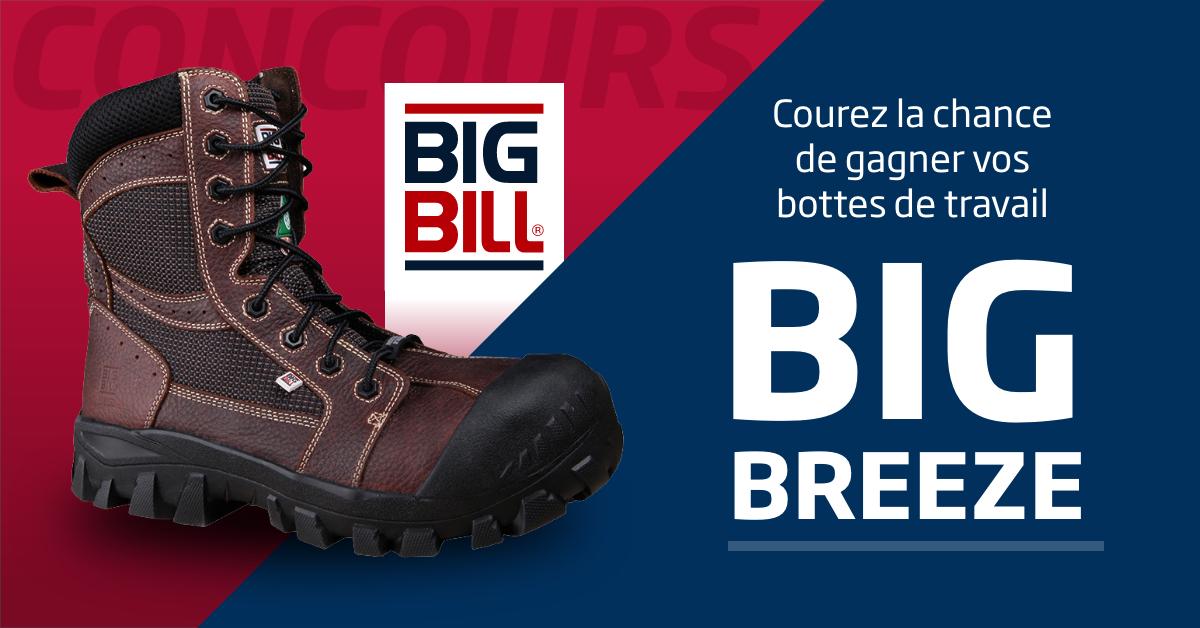 Concours Concours « Gagnez Vos Bottes De Travail Big Breeze De Big Bill »