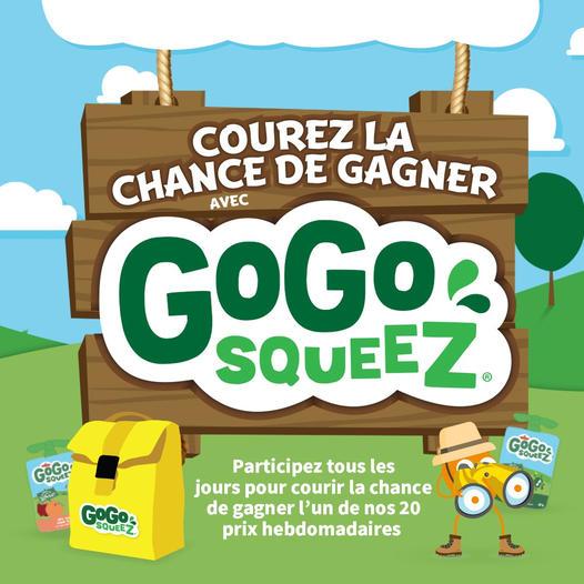Concours Courez La Chance De Gagner Avec Gogo Squeez
