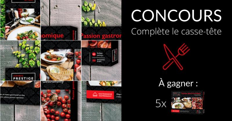 Concours Gagne Un Coffrets Prestige Passion Gastronomique D