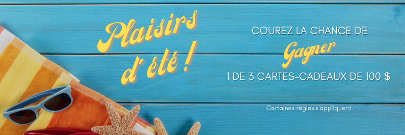 Concours Gagnez L'une Des Trois Cartes Cadeaux De 100$!