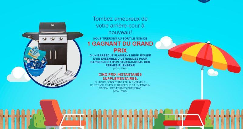 Concours Gagnez Un Barbecue équipé D'un Ensemble D'ustensiles Et D'un Panier Cadeau Des Fermes Burnbrae!