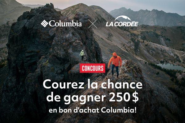 Concours Gagnez Un Bon D'achat Columbia Sportswear D