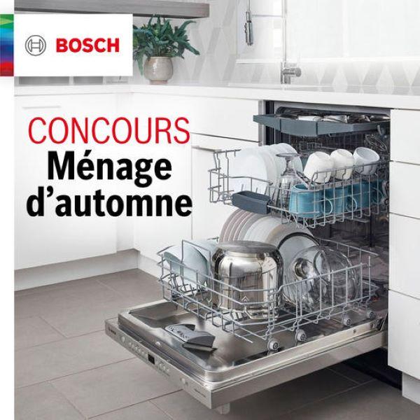 Concours Gagnez Un Des 3 Lave Vaisselle Bosch!