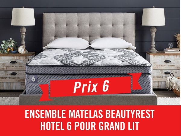 Concours Gagnez Un Ensemble Matelas Beautyrest Hotel 6 Pour Grand Lit!