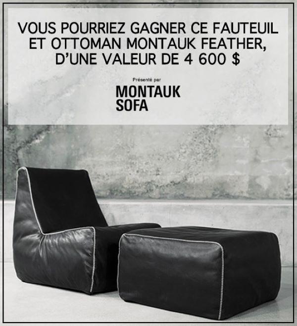 Concours Gagnez Un Fauteuil Et Ottoman Montauk Feather!