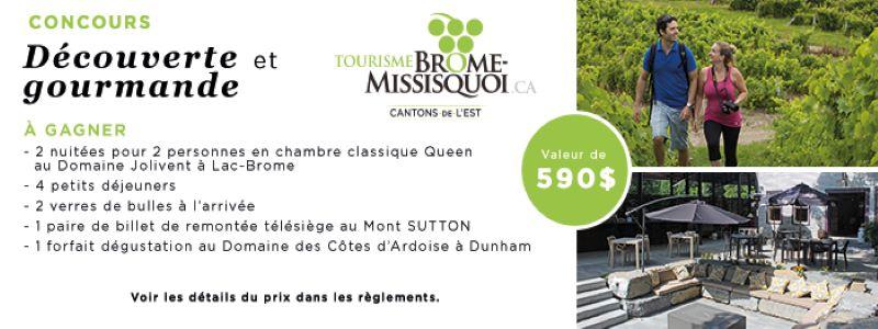 Concours Gagnez Un Forfait En Chambre Classique Queen Au Domaine Jolivent à Lac Brome!