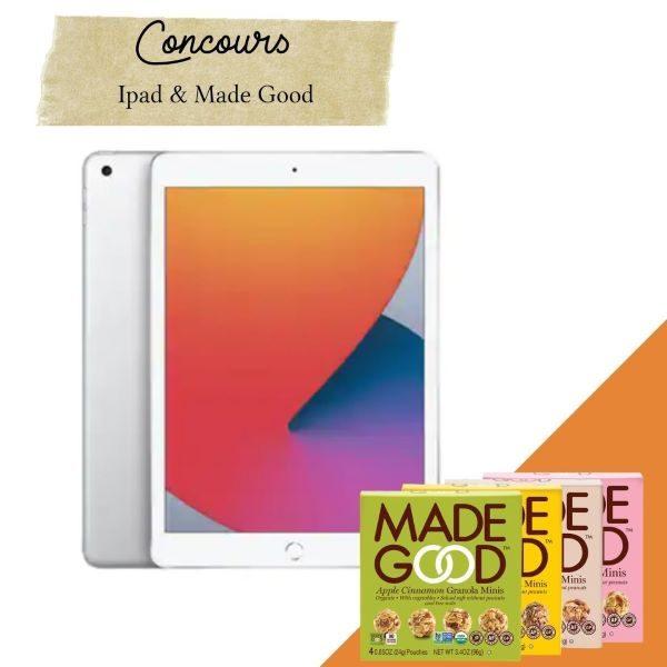 Concours Gagnez Un Ipad 128gb  Wi Fi Et 9 Produits De La Marque Madegood!
