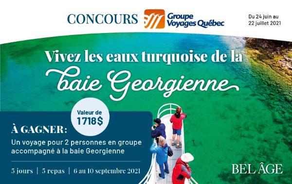 Concours Gagnez Un Voyage Pour 2 Personnes En Groupe Accompagné à La Baie Georgienne !