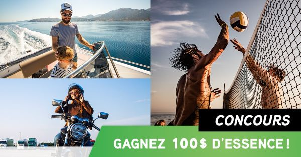Concours Gagnez Une Carte Cadeau De 100$ D'essence!