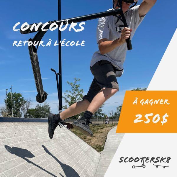 Concours Gagnez Une Carte Cadeau De 250$ Chez Scootersk8!