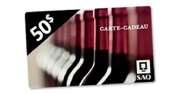 Concours Gagnez Une Carte Cadeau De 50$ à La Saq!