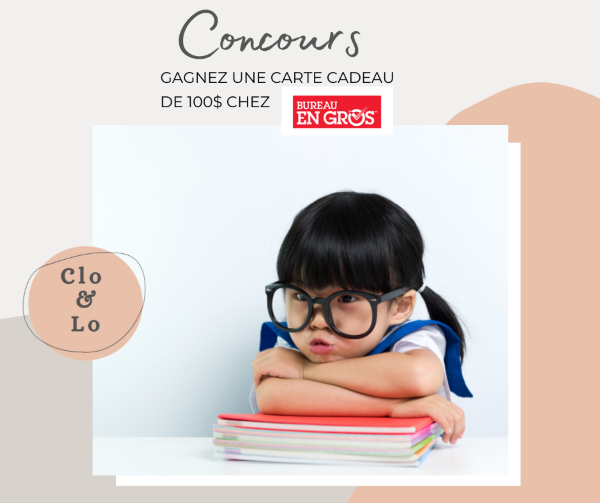 Concours Gagnez Une Carte Cadeau D'une Valeur De 100$ Chez Bureau En Gros!