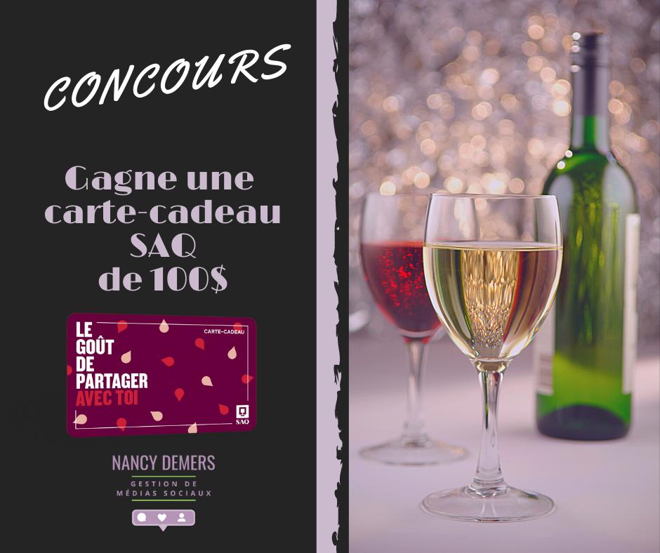 Concours Gagnez Une Carte Cadeau Saq D'une Valeur De 100$!
