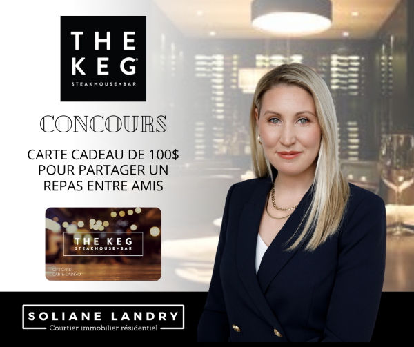Concours Gagnez Une Carte Cadeaux De 100$ Au Restaurant The Keg Steakhouse!