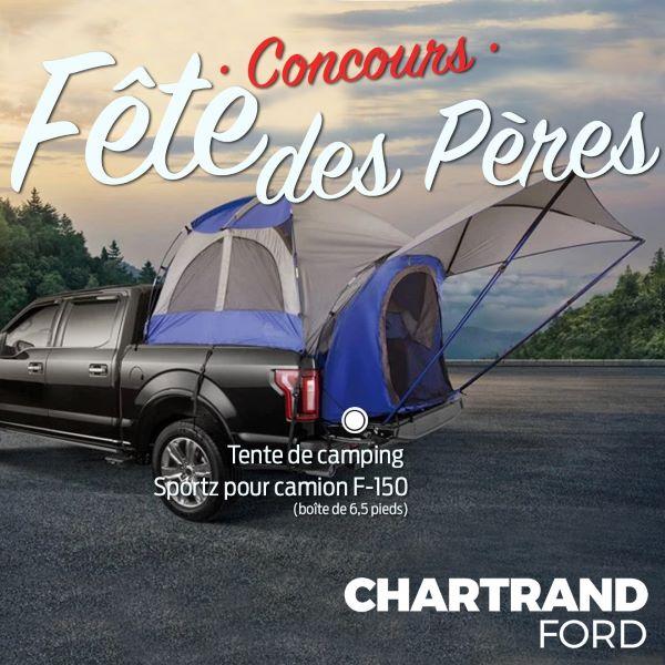 Concours Gagnez Une Tente De Camping Sportz Pour F 150 D'une Valeur De 370$!