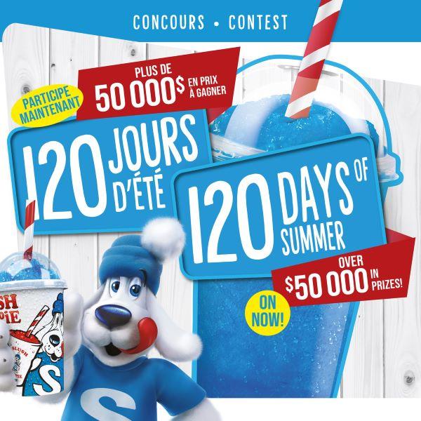 Concours Les 120 Jours D'été De Slush Puppie!