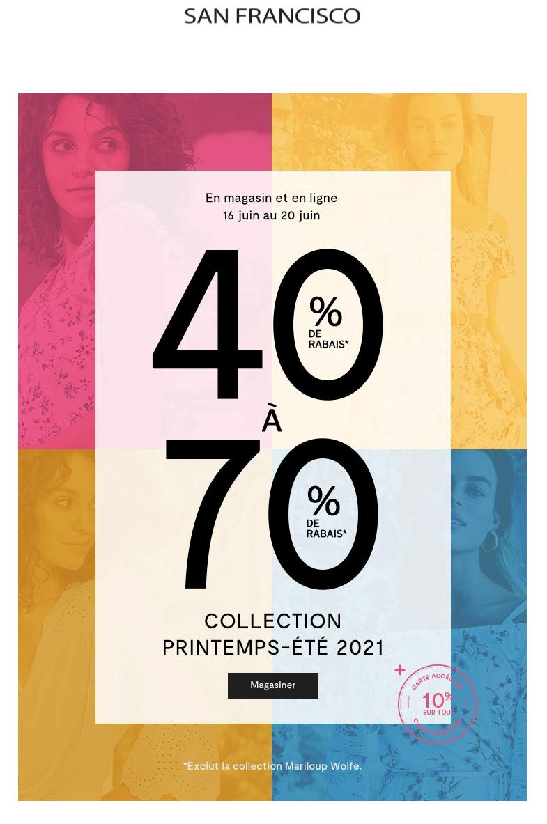 Dès Maintenant : 40% Sur La Collection Printemps