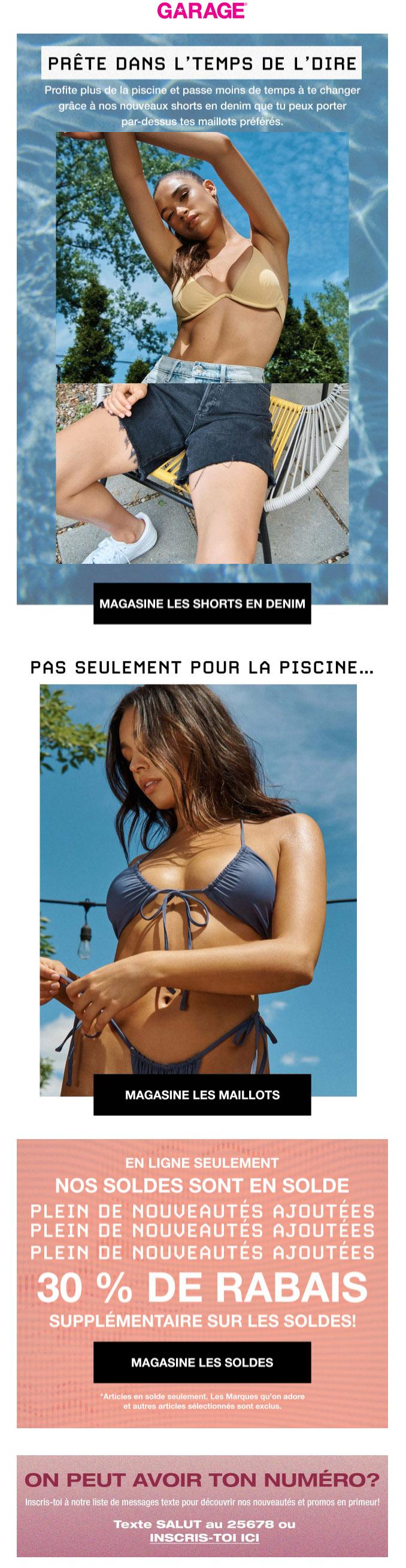 Le Look De L'été : Un Haut De Bikini + Une Paire De Shorts En Denim