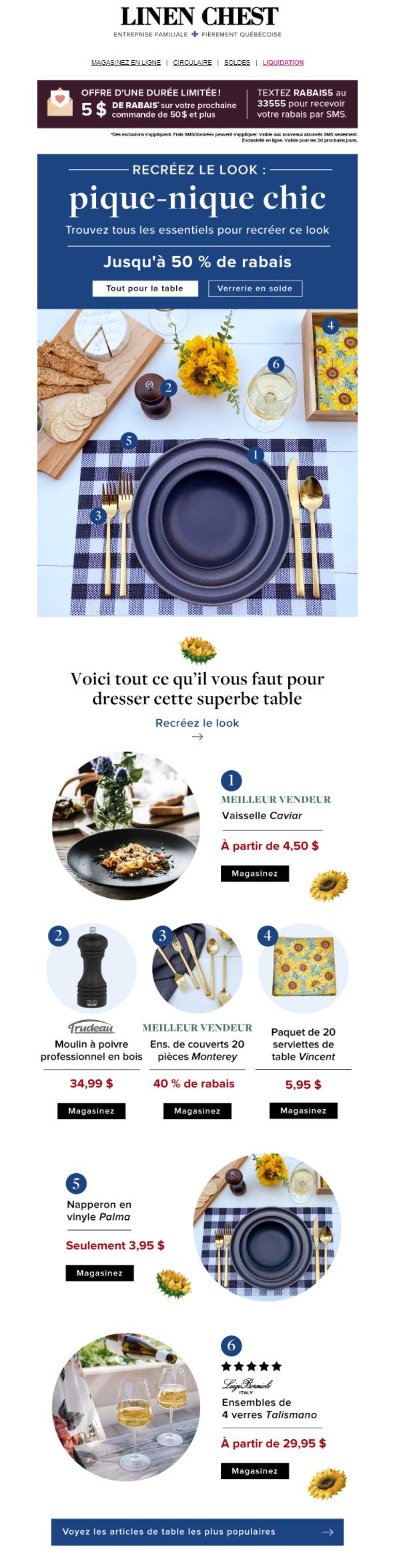 Le Nouveau Look Pour Votre Table: Pique Nique Chic