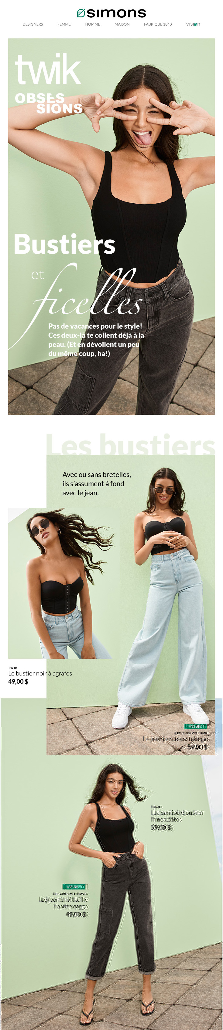 Obsessions : Bustiers Et Ficelles