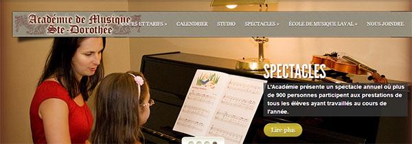 Académie De Musique Ste Dorothée En Ligne