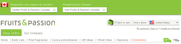 Fruits & Pssion Online Store