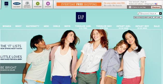 Gap Online Store Flyer