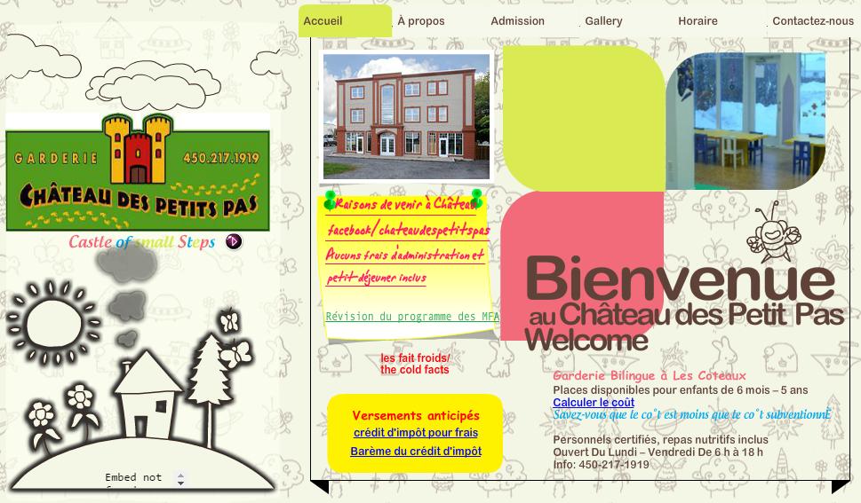 Garderie Château Des Petits Pas En Ligne