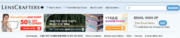 Lenscrafters Online Store