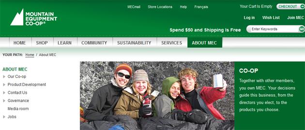 Mountain Equipment Co Op Online