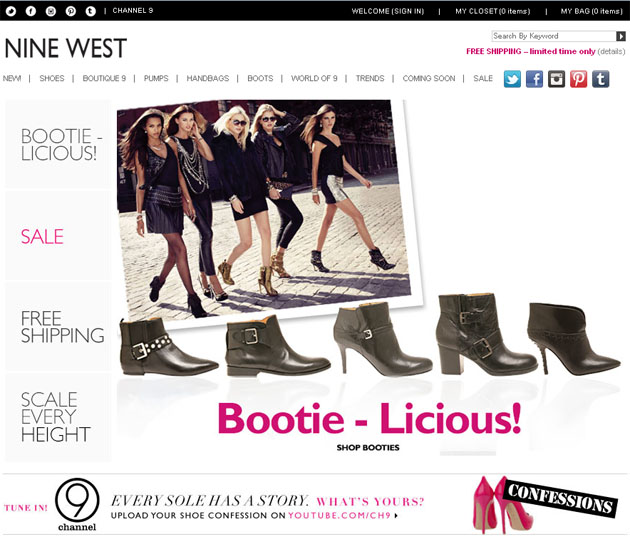 Nine West 9 West Online Store