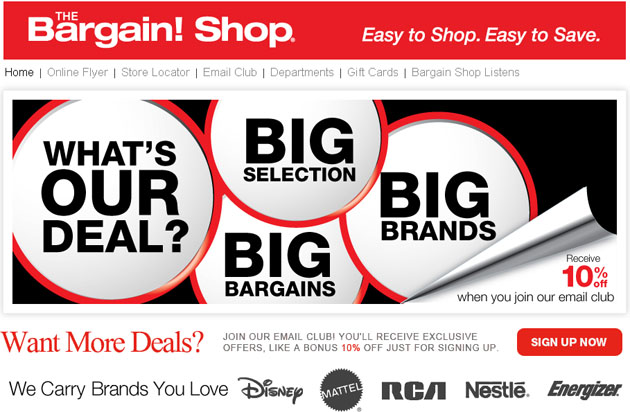 The Bargain Shop Online Weekly Flyer
